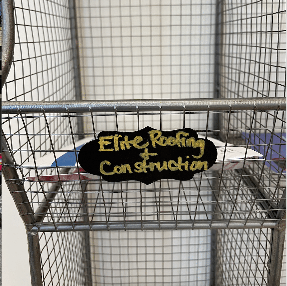 The new mailbox for Elite Roofing - one of the best roofing companies in Asheville!