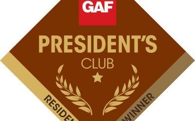 GAF President's Club Represents the Top 1% and Best Roofing Companies in the Country