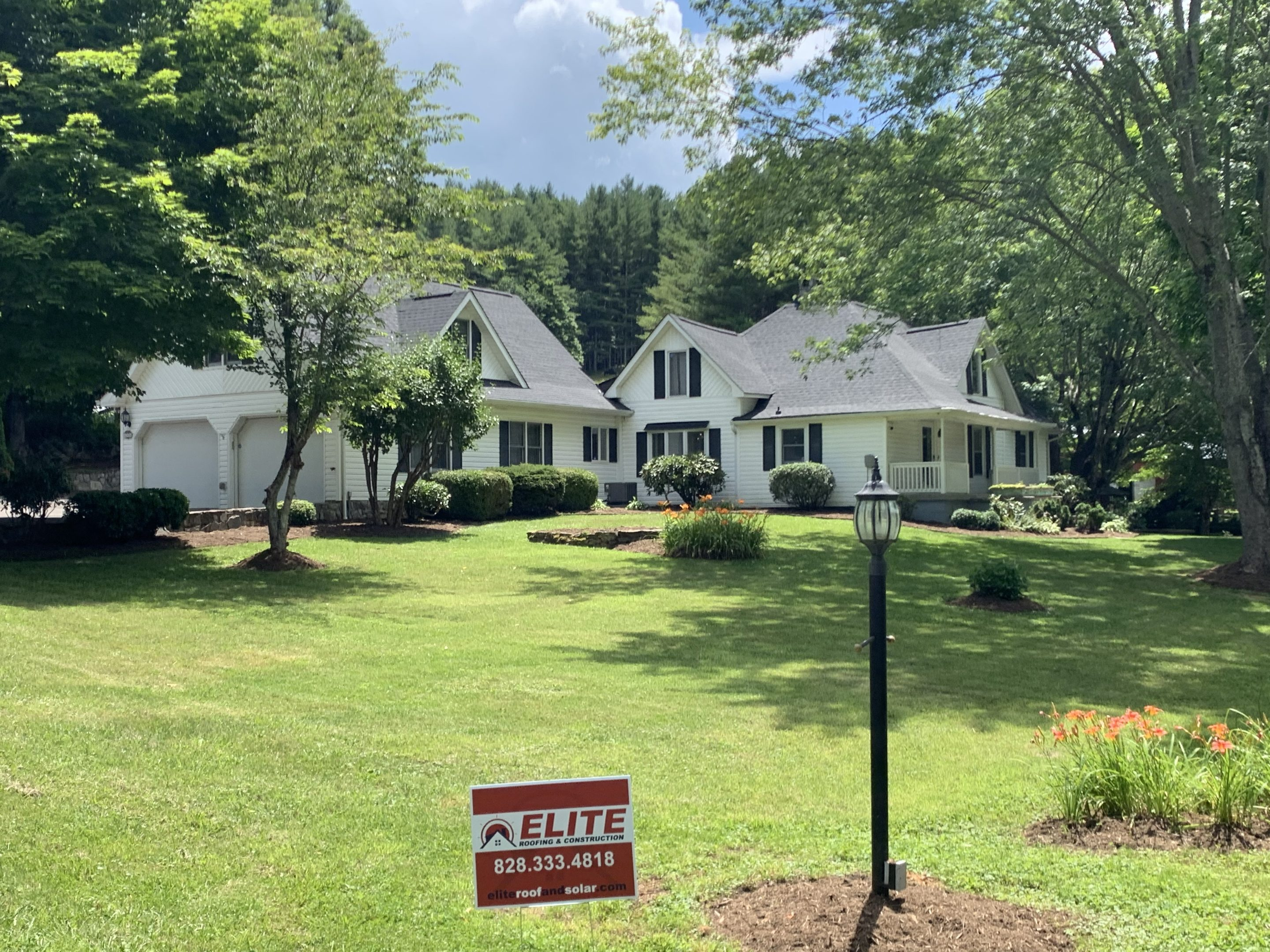 Roof replacement project in Blue Ridge Mountains